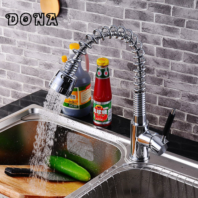 Spring kitchen sink faucet with single lever single hole Lead free ...