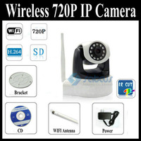 2012 New Arrival H 264 MJPEG PTZ CCTV IP Camera Support 720P Video Record And Wifi