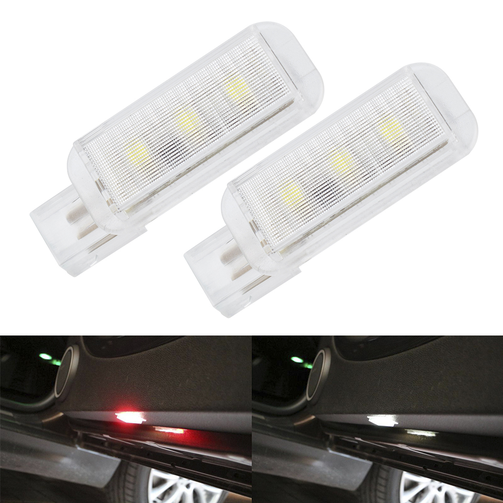 2PCS Car Door Light Red Flashing Safety Warning Light LED Strobe Light For Audi A6 C6 A3 A5 A8 Q5 Q7 RS S Line Quattro