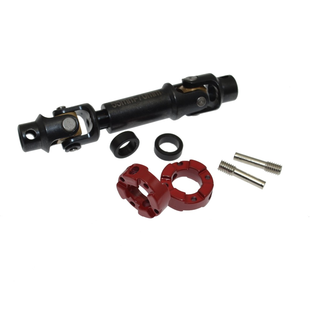RCAIDONG 1PCS RC Cars 55MM-70MM Drive Shaft for 1/10 AXIAL SCX10 Rock Crawler Parts Upgraded