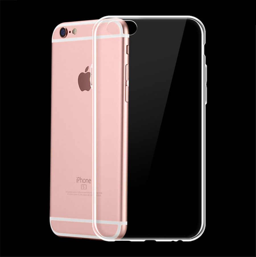 الفاخرة واضح لينة TPU حقيبة لهاتف أي فون 11 برو ماكس 7 8 6 6s زائد 7 زائد 8 زائد X XS ماكس XR شفافة جراب هاتف ل 4 5s SE 6sPlus