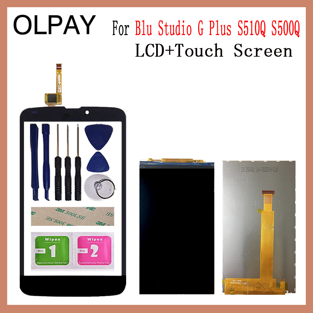 OLPAY 5.5 inch Touch Screen LCD Display Panel Sensor For Blu Studio G Plus S510Q S500Q Touch Digitizer Phone Front Glass Lens Mobile Phone Touch Panel     - title=