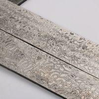 250mm X 40mm X 3 5mm Damascus Billet Damascus Steel Blanks HRC58 Knife Blanks Waves