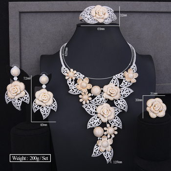 Luxury Blooming Flowers Jewelry Set  5