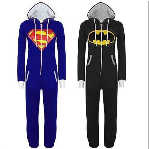 Batman Superman Unisex OnePiece Costume Onebody Kigurumi Pajamas Sleepwear Lit01