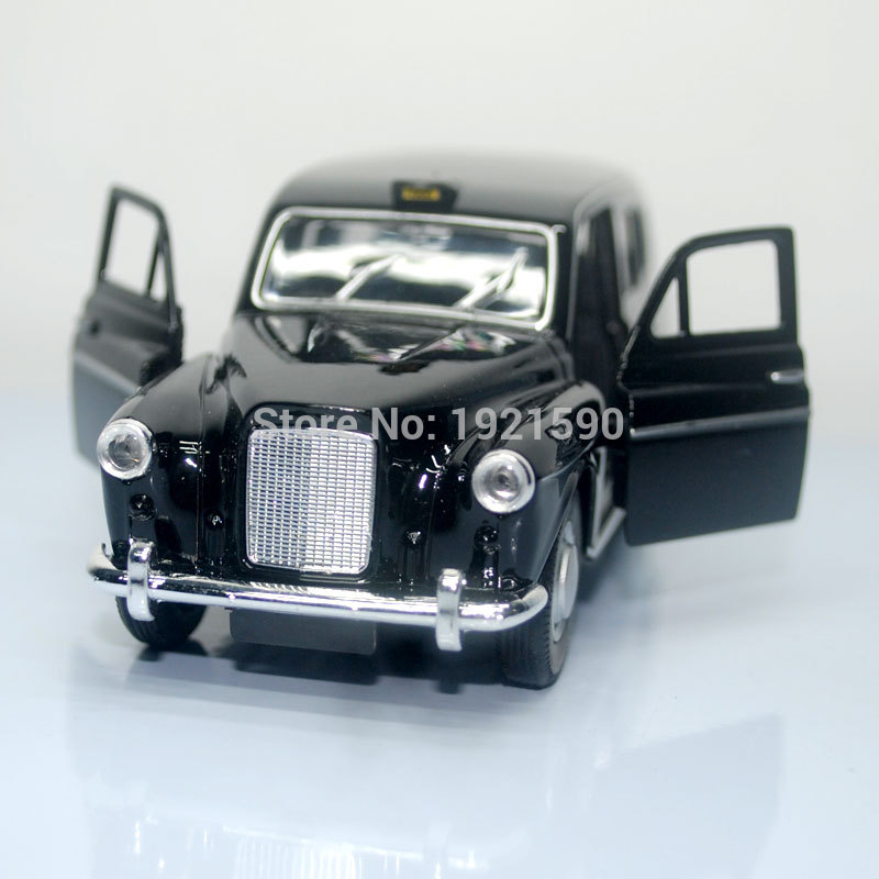 5pcs/pack Wholesale WELLY 1/36 Scale Pull Back Car Toys London TAXI Diecast Metal Car Model Toy