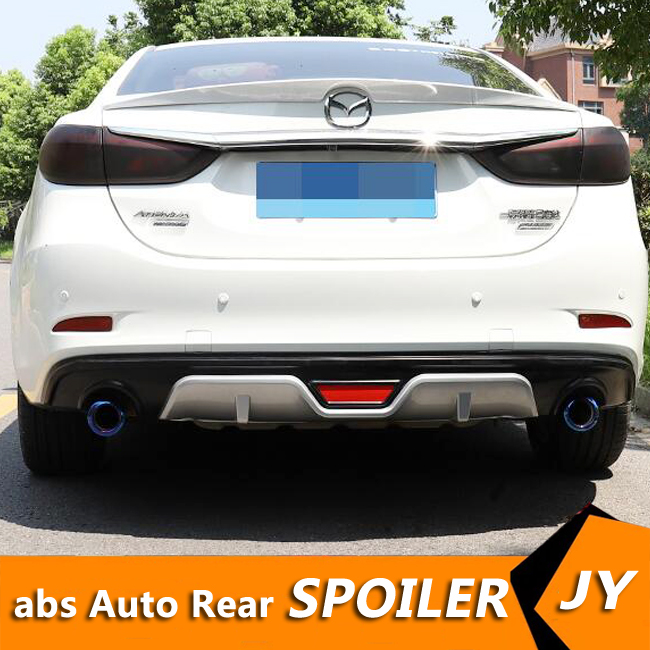 For Mazda <font><b>6</b></font> Atenza ABS Rear Bumper Diffuser Bumpers Protector <font><b>BTS</b></font> For 2014-2019 Atenza Body kit bumper rear lip rear spoiler image
