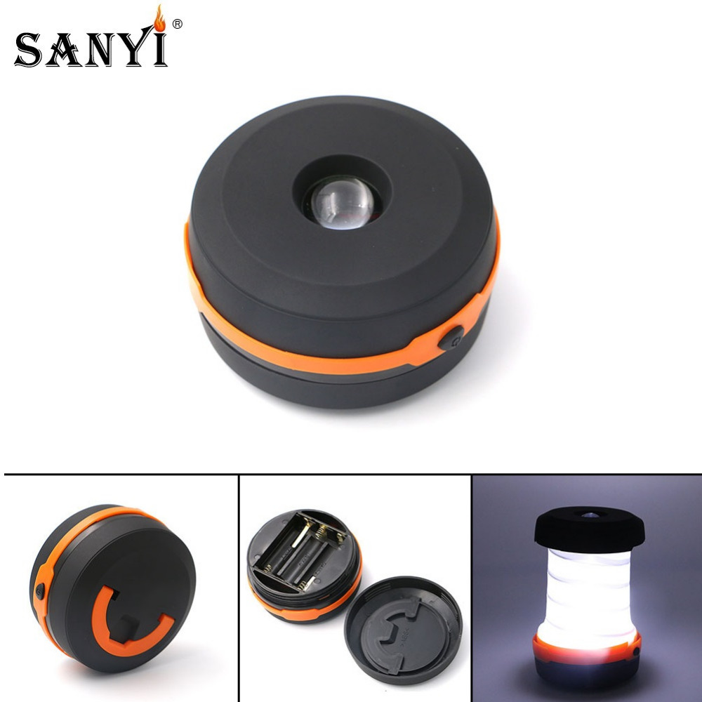 Collapsible Telescopic LED Lanterns Torch Flashlight Multifunction Camping Light