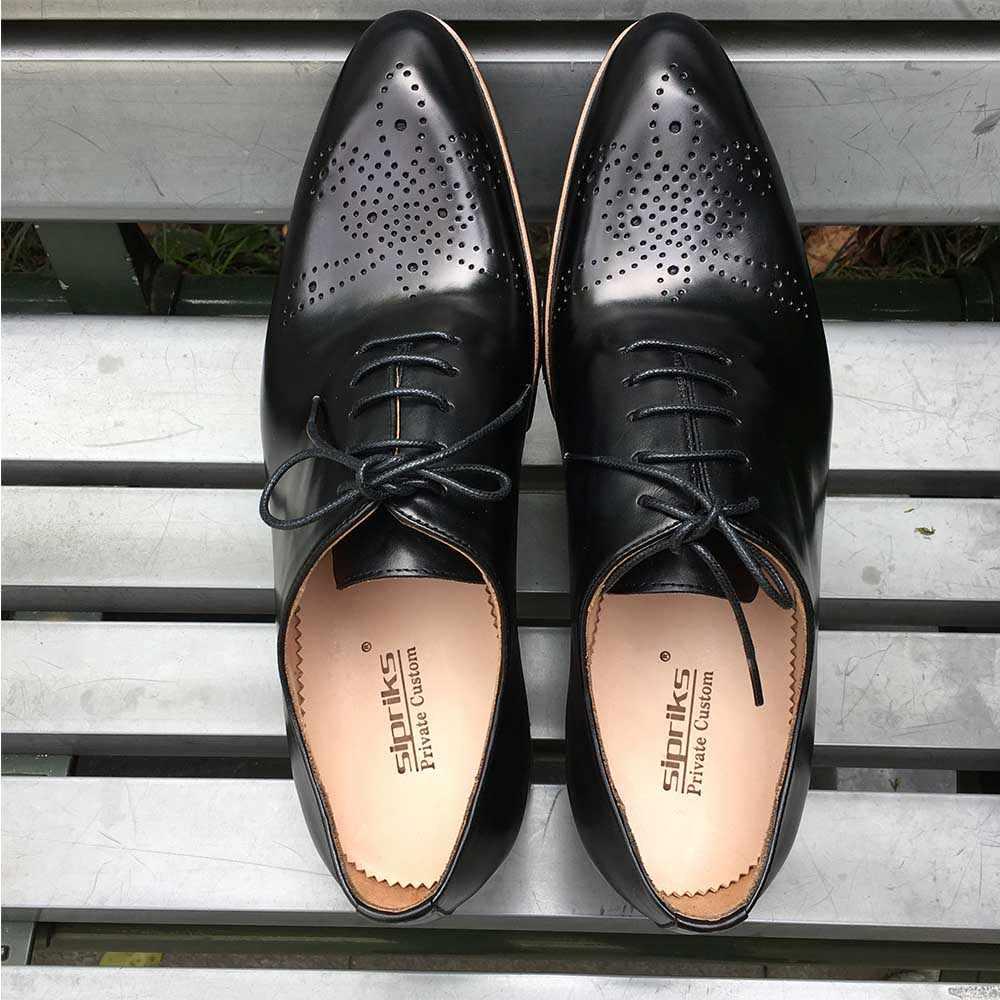 66d76992 ... Sipriks hombre tallado piel de becerro Oxfords luz gruesa EVA suela Brogue  zapatos italiano a medida ...
