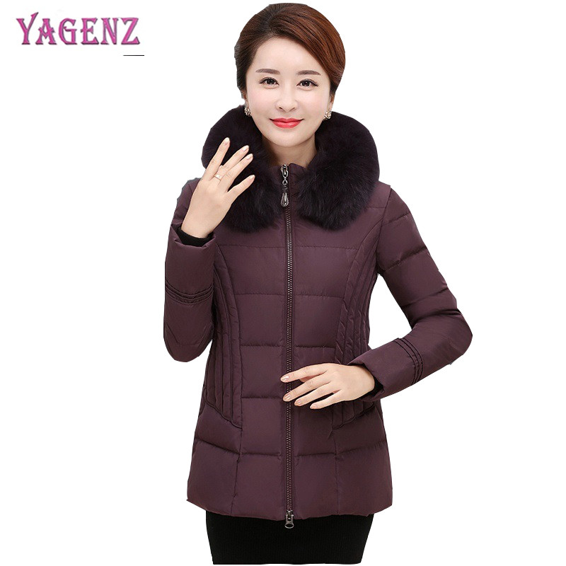 Court Blue Plume Dark Veste Moyen red B56 Femmes Épaissi Pardessus Qualité Hiver 6xl peacock Dates Haute Capuchon Ms Survêtement Purple Âge Coton À black ZukXPiTO