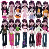 Random 10 Items Fashion 5 Outfit 5 Pair High Heels Shoes Accessories Clothes For Monster High