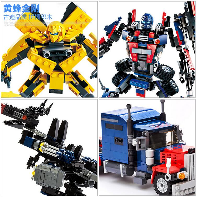 AIBOULLY Movie Series 8711~8713 Bumblebee Building Blocks Figures Model Kids Toys Robot 2 In 1 Vehicle Car blocks Free Shipping car transformers deformation robot transformers bumblebee model car toys for children