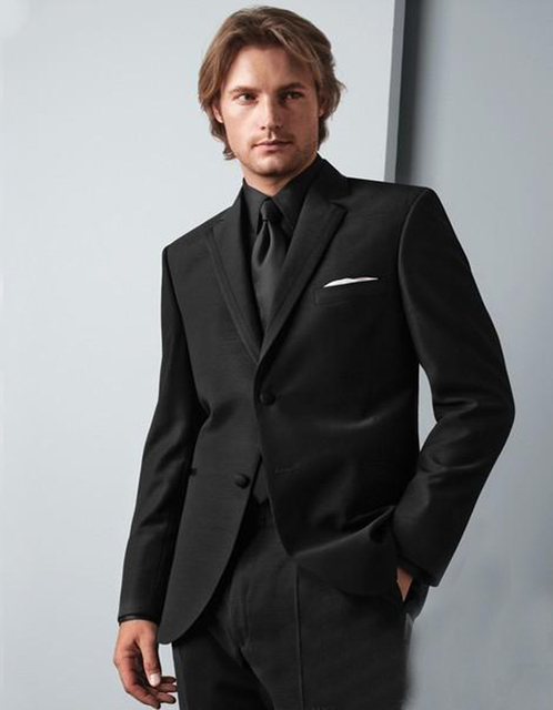 Aliexpress.com : Buy 2017 Classic Mens Suit Black Mens Wedding ...