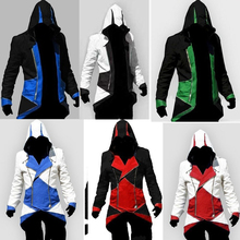 Assassins Creed 3 III Conner Kenway Hoodie Coat Cosplay Jacket Costume Overcoat Assassins Creed Costume