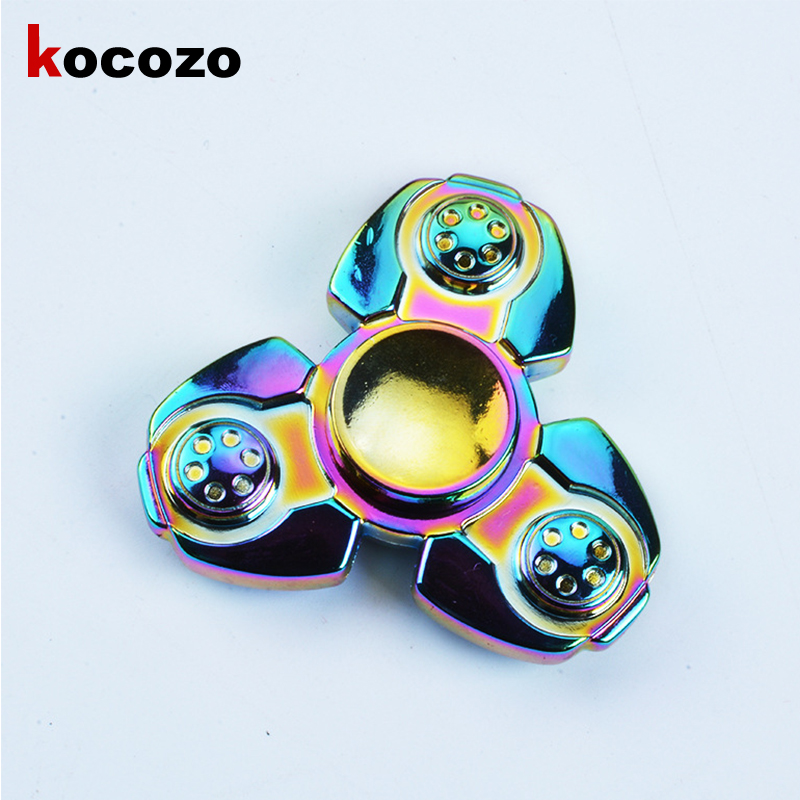 New Fidget Spinner Finger EDC Hand Spinner Tri For Kids Autism ADHD Anxiety Stress Relief Focus