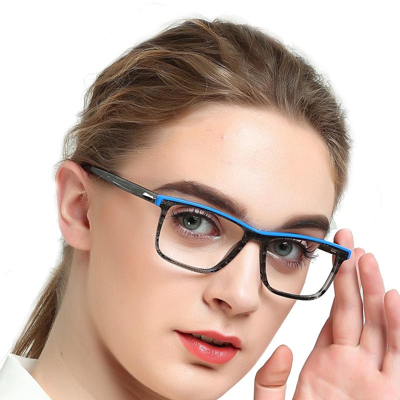Office Anti Blue Light Computer Spectacles Frames Textured Myopia Prescription Optical Eyeglasses Frame Femme MARE AZZURO OC7117 in Women 39 s Eyewear Frames from Apparel Accessories