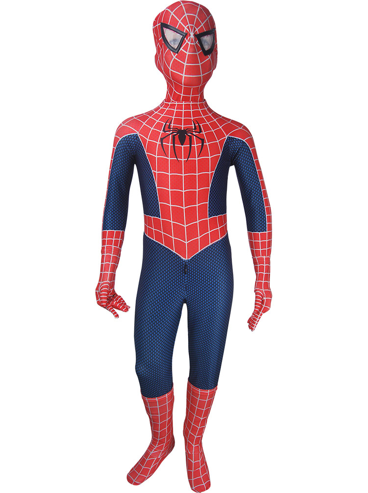 Kid's Spider-man costume suit red superhero jumpsuit cosplay halloween costume x'mas christmas gift toys make-up comic-con