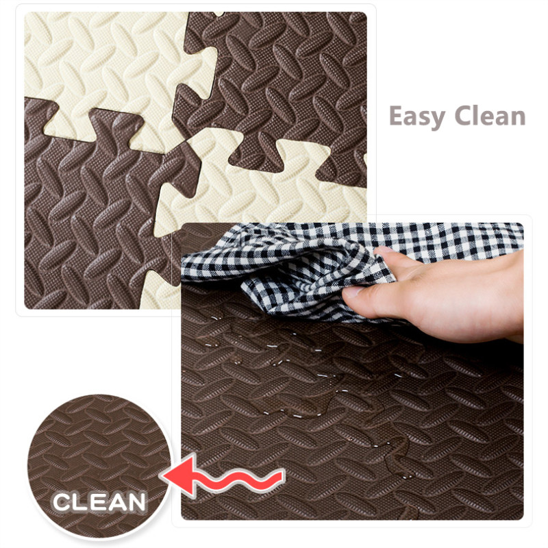 JCC feuille motif Puzzle EVA mousse bébé tapis de jeu/enfants tapis tapis de verrouillage exercice plancher pour enfants carreaux 60*60*1.2 cm - 4