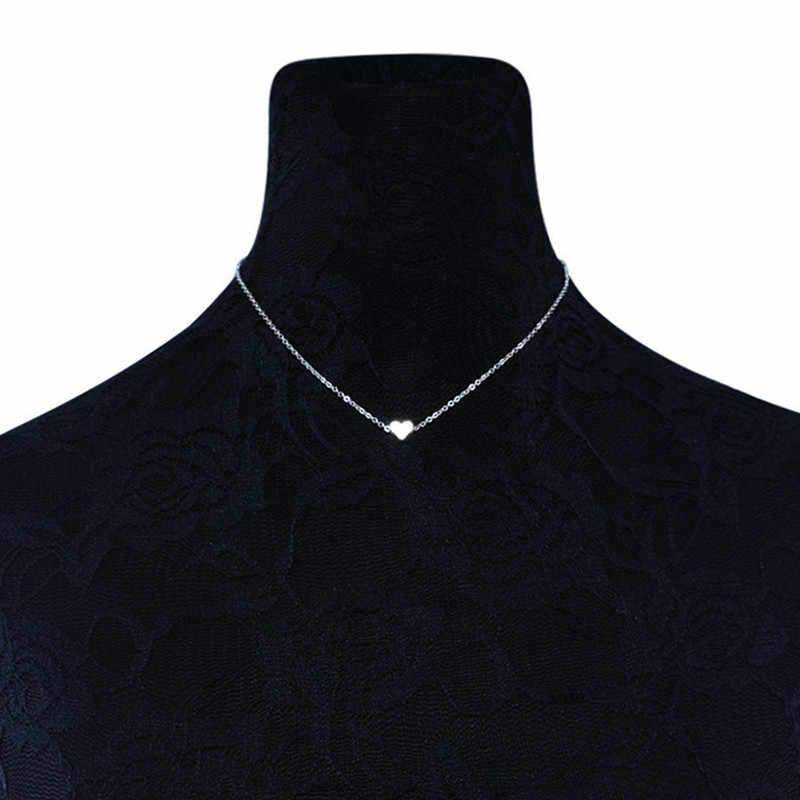 Szalony Feng nowy naszyjnik z małym serduszkiem dla kobiet złoty/srebrny kolor wisiorek w kształcie serca naszyjnik prezent etniczny naszyjnik choker w stylu boho
