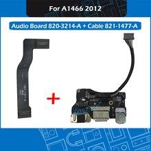 """새로운 i/o usb 오디오 DC IN 잭 보드 820 3214 a 플렉스 케이블 821 1477 a macbook air 13.3 """"a1466 md231 md232 mid 2012"""