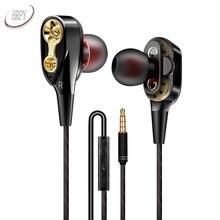 Esporte Correndo Música Fones De Ouvido de 3.5mm Com Fio de Alta Qualidade Em fone de Ouvido Fones de Ouvido Com Microfone Para Huawei Xiaomi SamSung Telefone PC