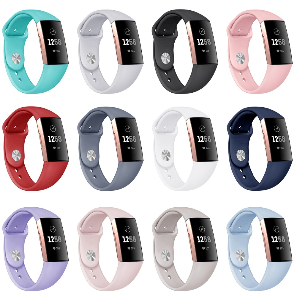 Image 2 - Watch Band Replacement for Fitbit Charge 3 Soft Breathable Watch Strap Durable Versa Band for Women Men Band Strap for Charge 3-in Smart Accessories from Consumer Electronics