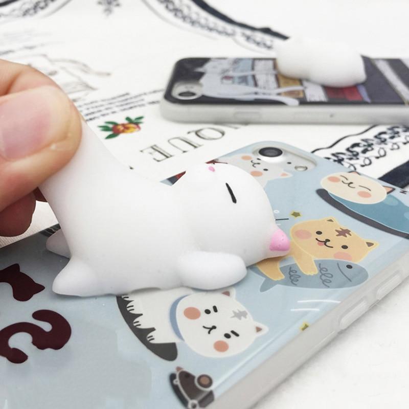 Soft And Squishy Cat Vine : Cute Soft Silicone Squishy Cat Case