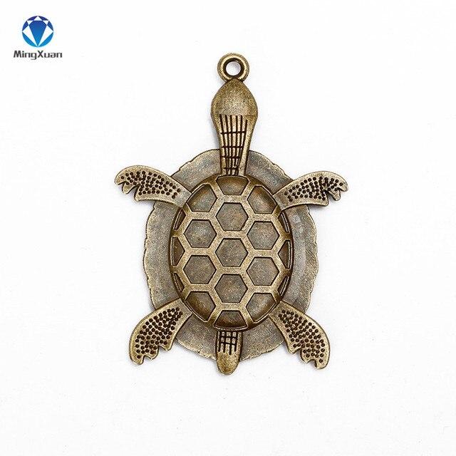 Купить mingxuan 10 шт черепаховая подвеска с бронзовой филигранью под картинки цена