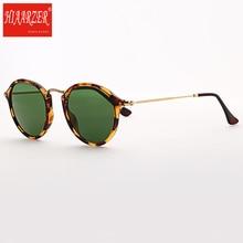Classic 2447 Acetate Round G15 Sunglasses Men Women Luxury Brand High Quality Real Glass Lens Sun Glasses UV400 Oculos De Sol
