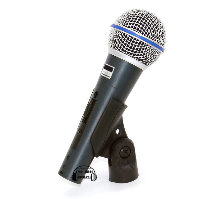 2PCS Supercardioid Beta58a Switch Vocal Karaoke Handheld Dynamic Wired Microphone For BETA 58A Mic Mike Microfone fio Microfono