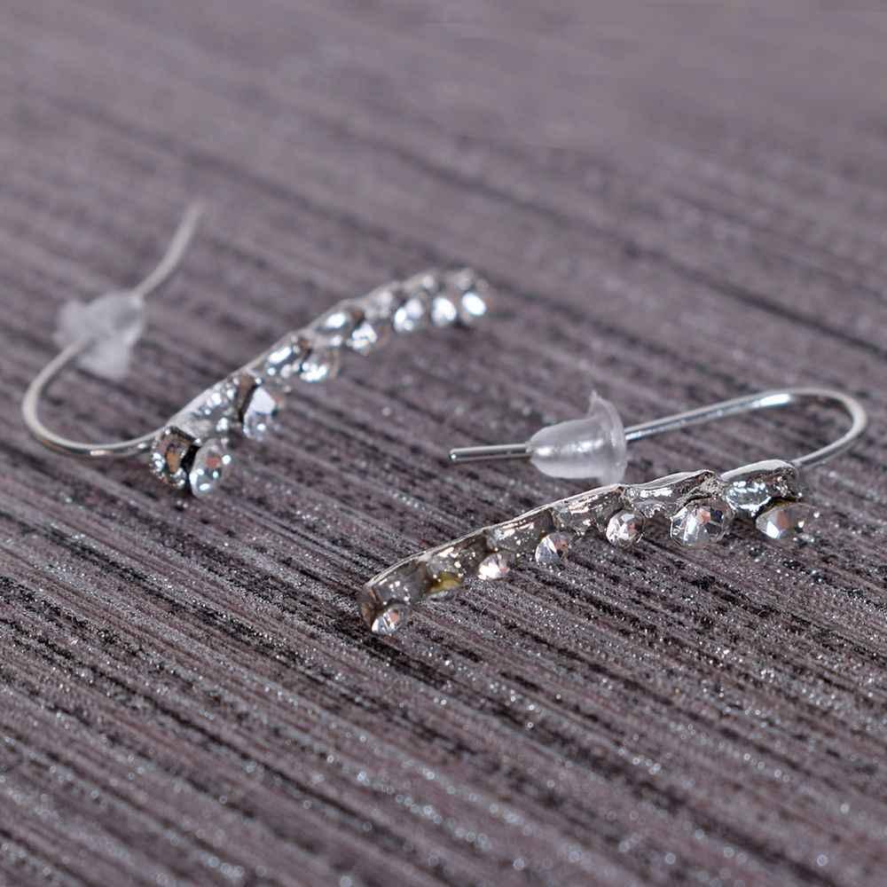 New Hot 1 Par Moda Prata Estrela De Cristal de Ouro Ear Cuff Penetrante Clip On Brinco Jewlery Charme Bijouterie Boucle D'oreille clipe