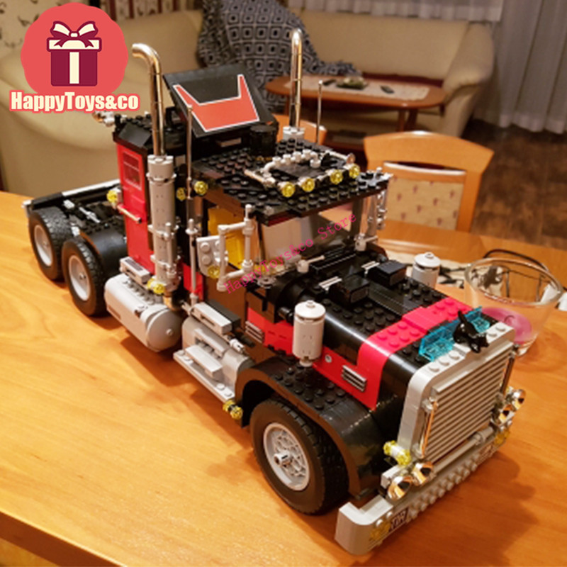 New Technology Series 5571 1743Pcs The American Black Cat Truck toys For Children Gift 21015 Building Blocks Set Compatible lps pet shop toys rare black little cat blue eyes animal models patrulla canina action figures kids toys gift cat free shipping