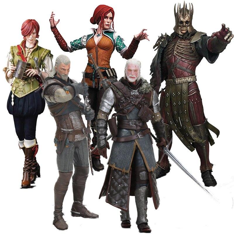 Witcher 3 Wild Hunt Figure Dark Horse Shani Triss  Eredin Geralt Of Rivia Eredin PVC Action Figure Collectible Model Doll Toys