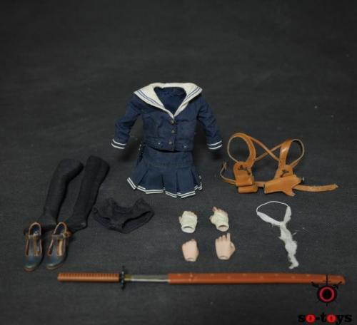 1/6 Scale Female Clothes + Shoes + Weapon Set D.E.B.S. Baby Doll SO-T02 For 12 Action Figure Accessories