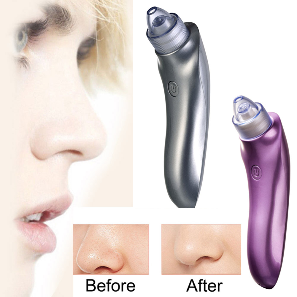 Hot Sale ABS Purple Silver Electric Face Pore Cleaner Blackhead Remover Vacuum Acne Comedo Suction Facial Beauty Machine hydra b5 soother 50ml soothing enhancer