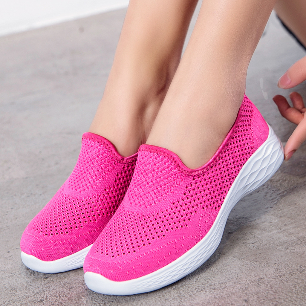 Women's Leisure platform shoes sapatilhas mulher Breathable summer shoes Mesh Outdoor Fitness Running Sport Sneakers Shoes(China)