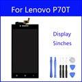 Display lcd original para lenovo p70 p70t substituição da tela do painel de vidro digitador da tela de toque de 5 polegada freetools