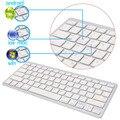 Nuevo breve ultra-delgado teclado inalámbrico bluetooth para ipad air 2 ipad mini 1 \ 2 \ 3 \ 4 galaxy tabs microsoft