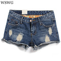 Frosted Hole Denim Shorts 2017 New Summer Women Fashion Shorts  Plus Size Sexy Lady Casual Female Denim Shorts 61451