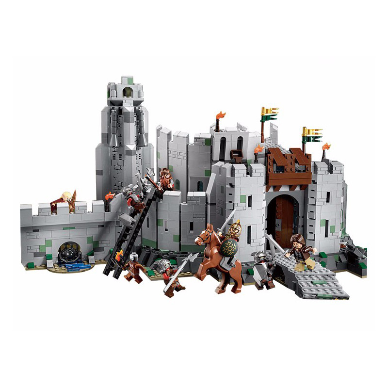 LEPIN 16013 Compatible with Legoe The Lord of the Rings The Battle Of Helm' Deep Model Building Block Toys 9474 lepin 16018 756pcs genuine the lord of rings series the ghost pirate ship set building block brick toys compatible legoed 79008