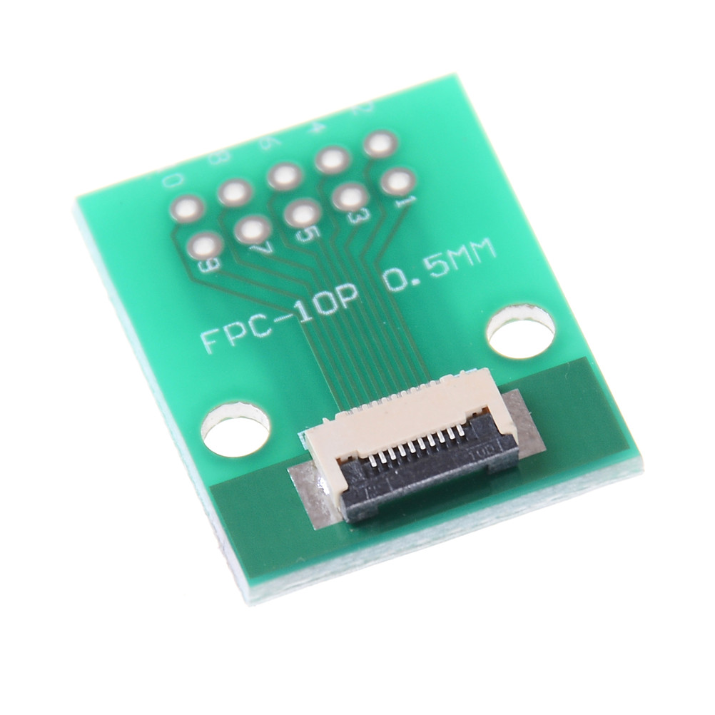 FPC FFC Cable 6 8 10 12 14 20 30 40 50 PIN 0.5 mm Pitch Connector SMT Adapter to 2.54 mm 1.00 inch Pitch Through Hole DIP PCB,10PIN