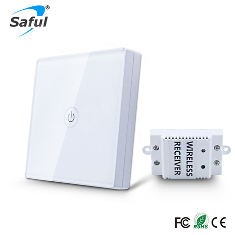 saful 1 12 v sem fio interruptor de toque quadrilha 1 vias painel interruptor de