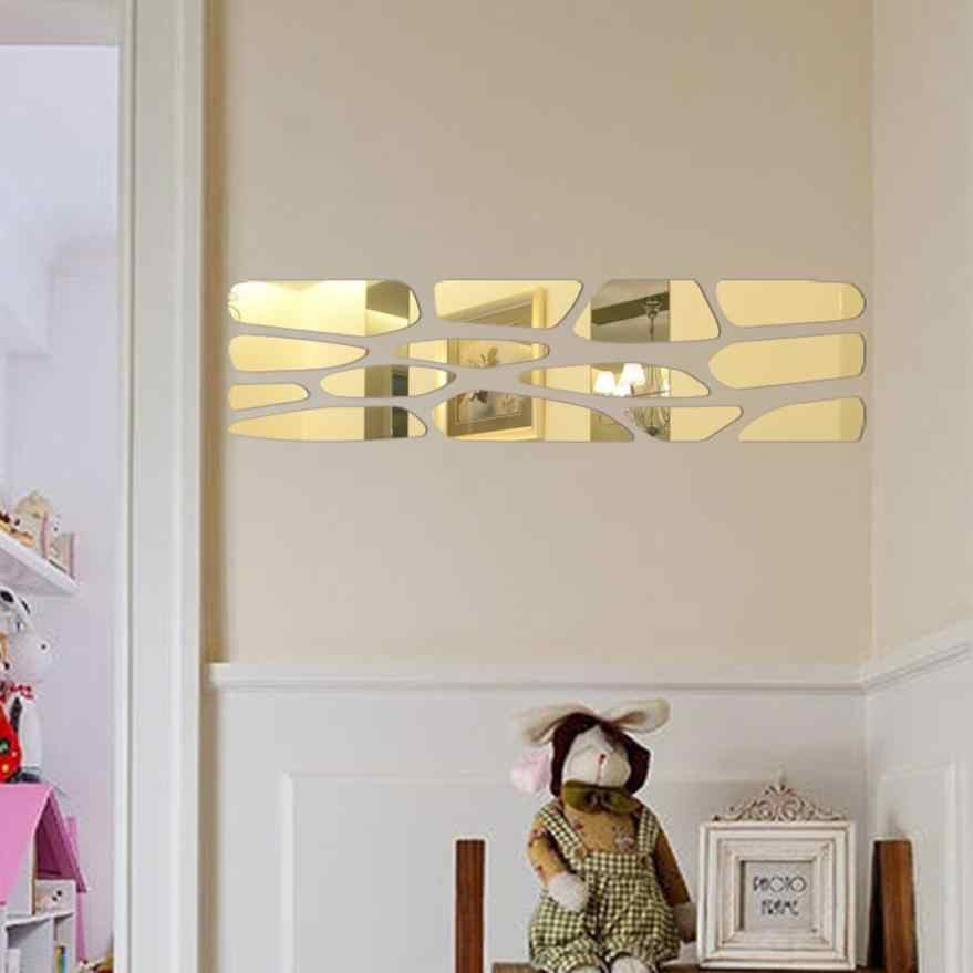 Dekorasi Rumah Moderen Cermin Gaya Stiker Bisa Dilepas Stiker Dinding Mural Seni Rumah Diseduh Sendiri Dekorasi Kamar Dinding Stiker Rumah Deco Cermin AU1