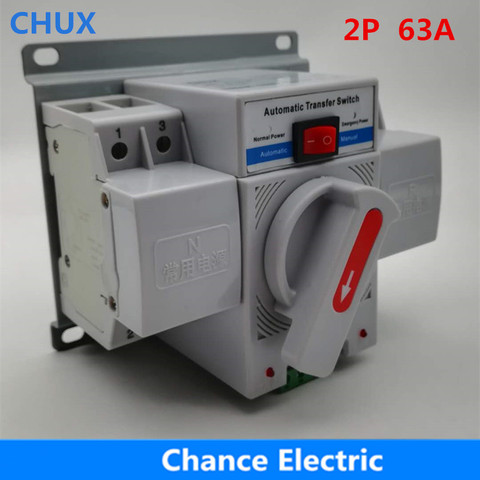 duplo poder de transferencia automatica interruptor 2 p 63a 230 v mcb tipo duplo poder