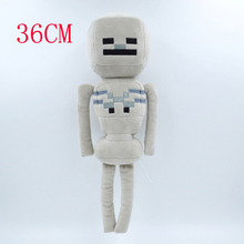 Minecraft Plush Toy 36cm Minecraft Skeleton Archer Stuffed Plush Toys Cartoon Game Toys Soft Toy Brinquedos Gift for Kids Baby