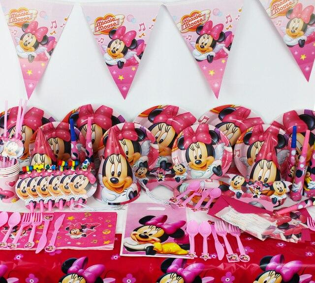 78 stücke Minnie Maus Baby Geburtstag Partydekorationen Kinder ...