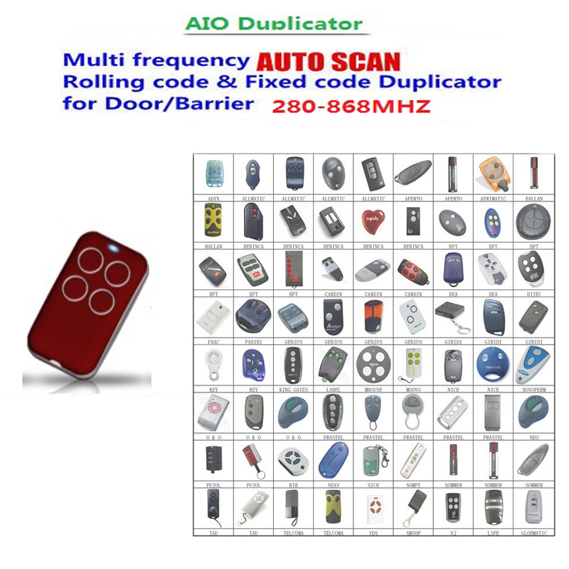 1PCS FOR BFT multi frequency auto scan rolling code & fixed duplicator 280-868 mhz free shipping multi frequency adjustable cloning rolling code remote control duplicator 433 868 315 418 mhz compatible nice ata faac sommer
