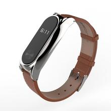 2017 New Mijobs Leather Strap For Xiaomi Mi Band 2 Screwless Bracelet