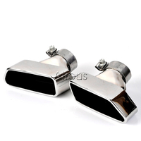 1set Chrome 304 Stainless Steel Car Exhaust Pipe Muffler Tip Tailpipe For 2013 2014 BMW F18