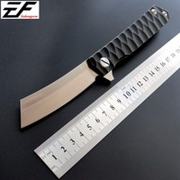 Hot Sale EF97 Bearing Folding Knife D2 Blade Steel 60HRCTC4 Titanium Alloy Handle Knife Outdoor Camping